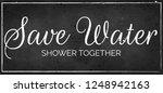 vintage  retro black chalkboard ... | Shutterstock .eps vector #1248942163