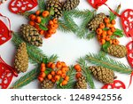 christmas decorations on a...   Shutterstock . vector #1248942556