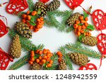 christmas decorations on a...   Shutterstock . vector #1248942559