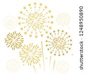 gold and bright firework on... | Shutterstock .eps vector #1248950890