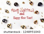 christmas flat lay scene with...   Shutterstock . vector #1248951043