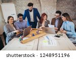 group business people meeting... | Shutterstock . vector #1248951196