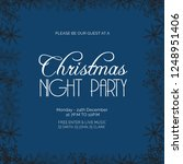 christmas night party snowflake ... | Shutterstock .eps vector #1248951406