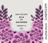 wedding invitation flower... | Shutterstock .eps vector #1248952399