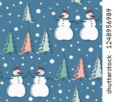 winter background with jolly...   Shutterstock .eps vector #1248956989