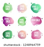 collection of spring sales... | Shutterstock .eps vector #1248964759