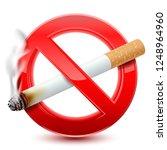 forbidden no smoking red sign ... | Shutterstock .eps vector #1248964960
