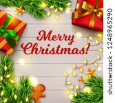 merry christmas  greeting card. ... | Shutterstock .eps vector #1248965290
