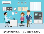 caucasian male doctor and... | Shutterstock .eps vector #1248965299