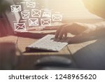 email marketing and newsletter... | Shutterstock . vector #1248965620