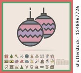 christmas baubles decoration... | Shutterstock .eps vector #1248967726