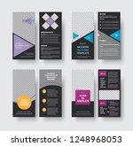 set of vector black flyer... | Shutterstock .eps vector #1248968053