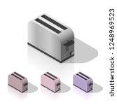 isometric toaster isolated | Shutterstock .eps vector #1248969523