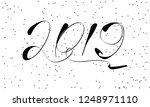 greeting card design template... | Shutterstock .eps vector #1248971110
