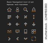 basic navigation icon set for...