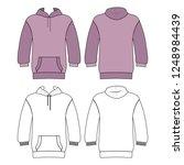 hoodie man template  front ...   Shutterstock . vector #1248984439