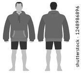 fashion man body full length... | Shutterstock . vector #1248986896