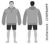 fashion man body full length... | Shutterstock . vector #1248986899
