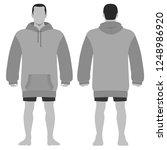 fashion man body full length... | Shutterstock . vector #1248986920