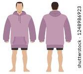 fashion man body full length... | Shutterstock . vector #1248986923