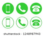 phone icon vector. call icon... | Shutterstock .eps vector #1248987943