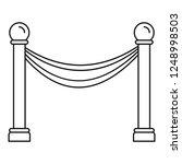 museum barrier icon. outline... | Shutterstock .eps vector #1248998503