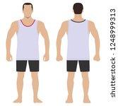 fashion hero man body full...   Shutterstock . vector #1248999313