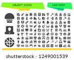 vector icons pack of 120 filled ...   Shutterstock .eps vector #1249001539