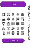 vector icons pack of 25 filled... | Shutterstock .eps vector #1249001560