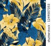 summer exotic seamless pattern. ... | Shutterstock . vector #1249007353