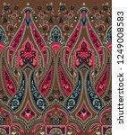 seamless paisley indian motif | Shutterstock . vector #1249008583