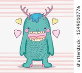 monster fantastic creature with ... | Shutterstock .eps vector #1249010776