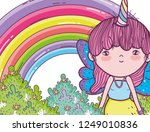 girl fantastic creature with... | Shutterstock .eps vector #1249010836