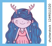 girl fantastic creature with... | Shutterstock .eps vector #1249011520