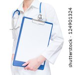 medical female doctor holding... | Shutterstock . vector #124901324