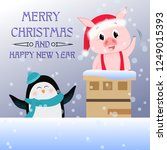 merry christmas and happy new... | Shutterstock .eps vector #1249015393