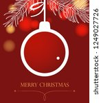 christmas background with ball. ...   Shutterstock . vector #1249027726