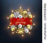 merry christmas decorative... | Shutterstock .eps vector #1249028386