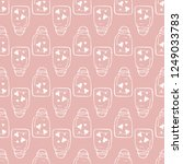 romantic seamless pattern with...   Shutterstock .eps vector #1249033783