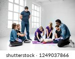 group of young people learning... | Shutterstock . vector #1249037866