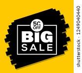 50  off big sale vector eps 10... | Shutterstock .eps vector #1249040440