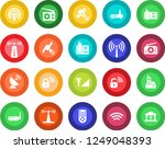 round color solid flat icon set ... | Shutterstock .eps vector #1249048393