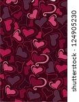 love pattern | Shutterstock .eps vector #124905230