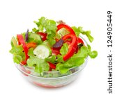 fresh vegetable salad isolated... | Shutterstock . vector #124905449