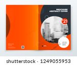 brochure template layout design.... | Shutterstock .eps vector #1249055953