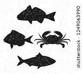 seafood logo vintage | Shutterstock .eps vector #1249063990