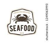 seafood logo vintage | Shutterstock .eps vector #1249063993