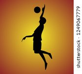 silhouette of volleyball... | Shutterstock .eps vector #1249067779