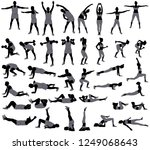set of vector silhouettes of... | Shutterstock .eps vector #1249068643