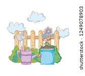 gardener shower sprinkler with...   Shutterstock .eps vector #1249078903